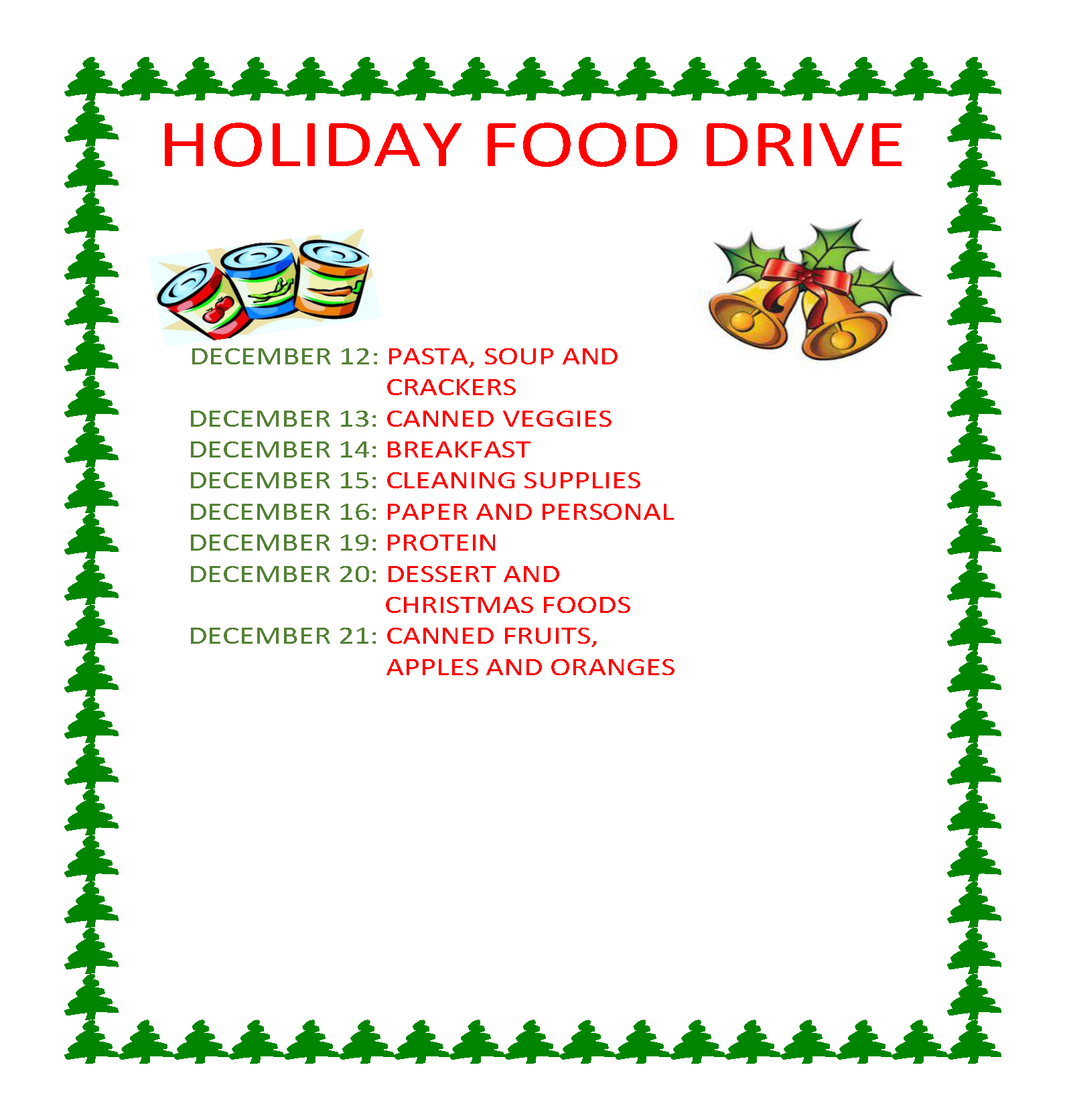 christmas food drive - photo #6